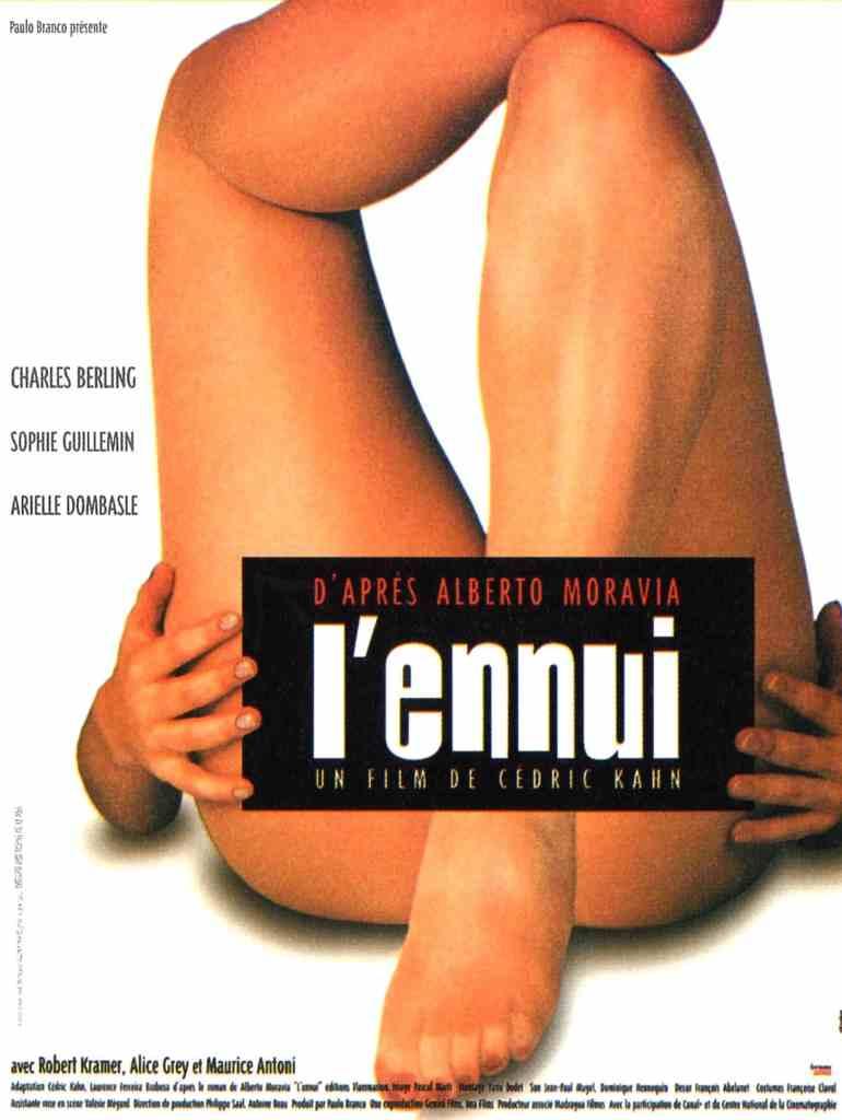 Affiche du film l'ennui de Cédric Kahn, interdit aux moins de 12 ans