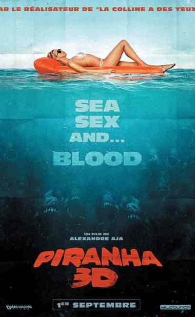 Affiche française de Piranhas 3D
