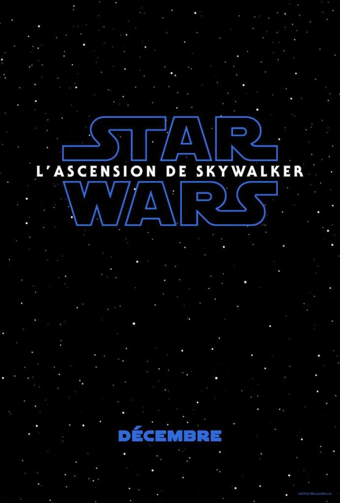 Affiche teaser de Star Wars lascension de Skywalker
