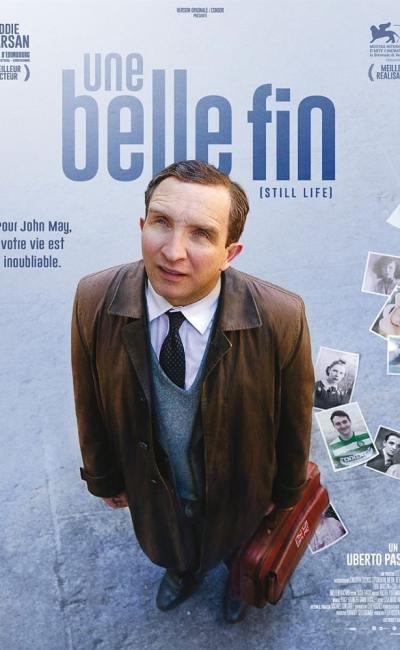 Affiche française d'Une belle fin avec Eddie Marsan