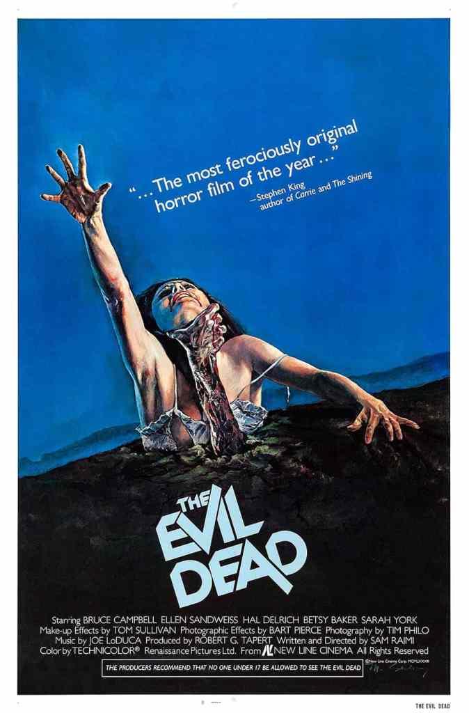 L'affiche originale de The Evil Dead