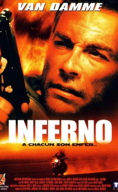 Inferno, la jaquette du film avec Van Damme