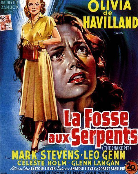 Affiche française de La Fosse aux serpents d'Anatole Litvak