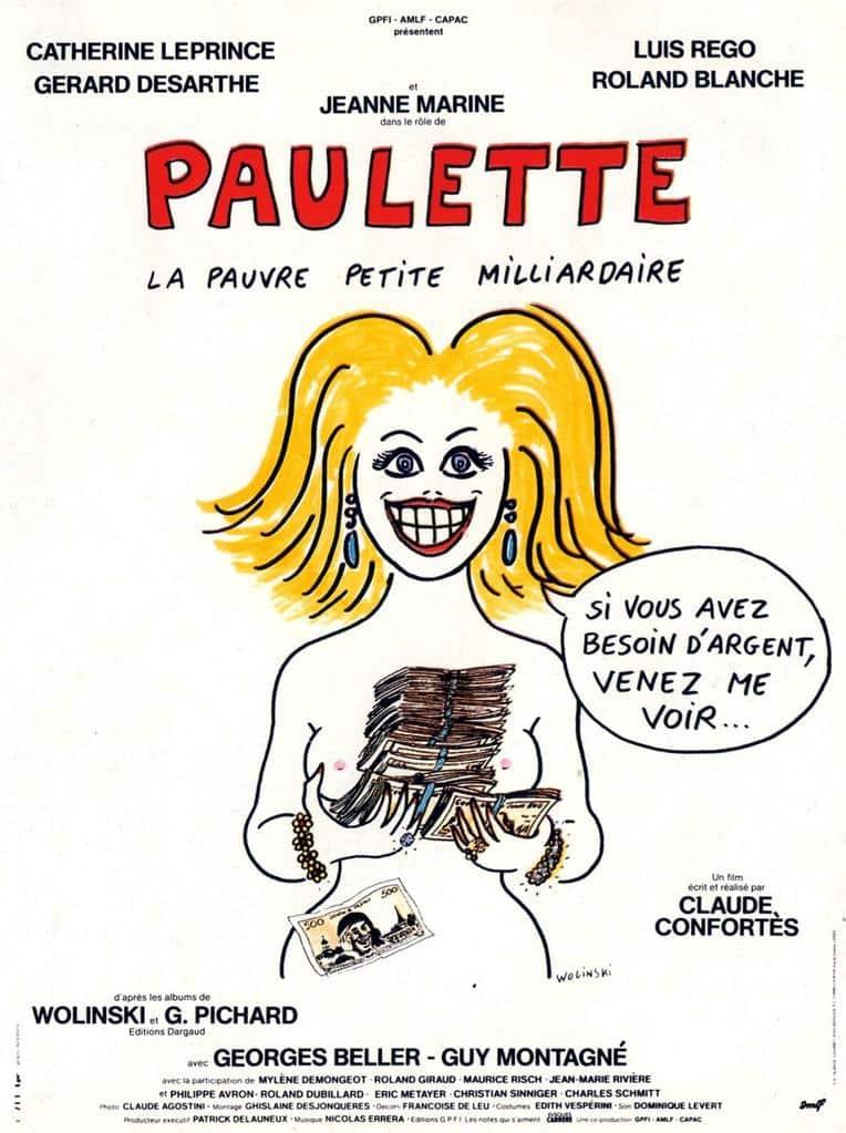 Affiche de Paulette la pauvre petite milliardaire par Wolinski