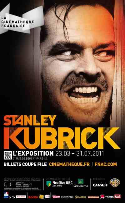 Affiche de l'exposition Stanley Kubrick à la Cinémathèque