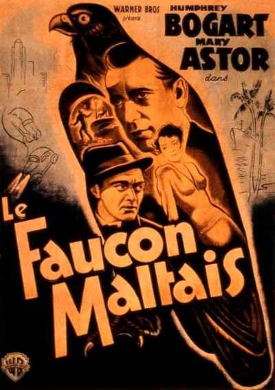 Affiche française du Faucon maltais de John Huston