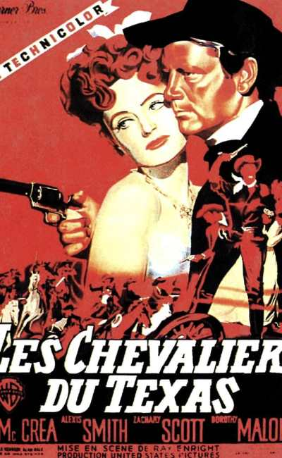 Les chevaliers du Texas, affiche alternative rouge