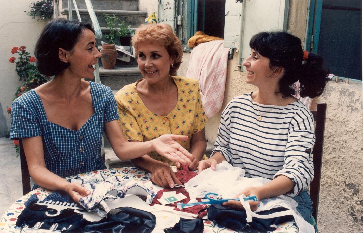 Frédérique Bonnal, Pascale Roberts et Ariane Ascaride dans Marius et Jeannette de Robert Guédiguian