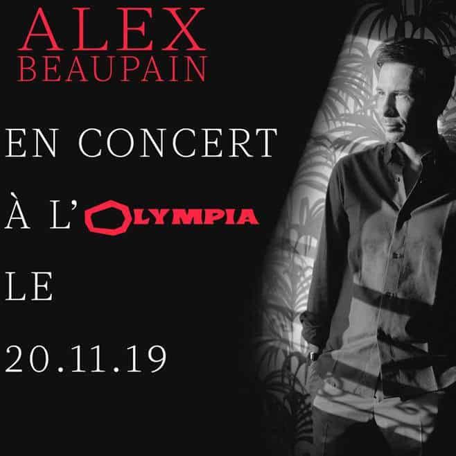 Alex Beaupain à l'Olympia en novembre 2019