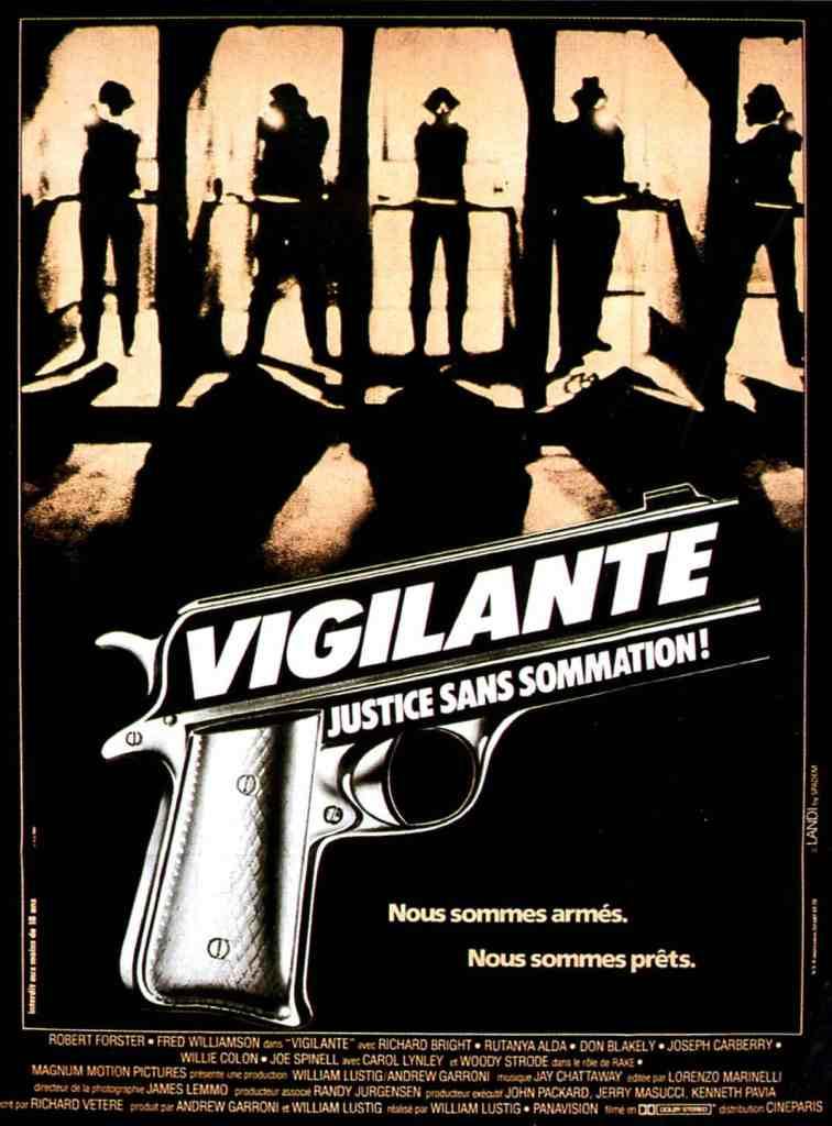 vigilante, justice sans sommation ! Affiche cinéma 1983
