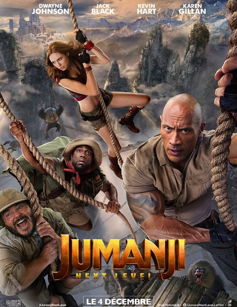 Jumanji next level, affiche de la suite du reboot