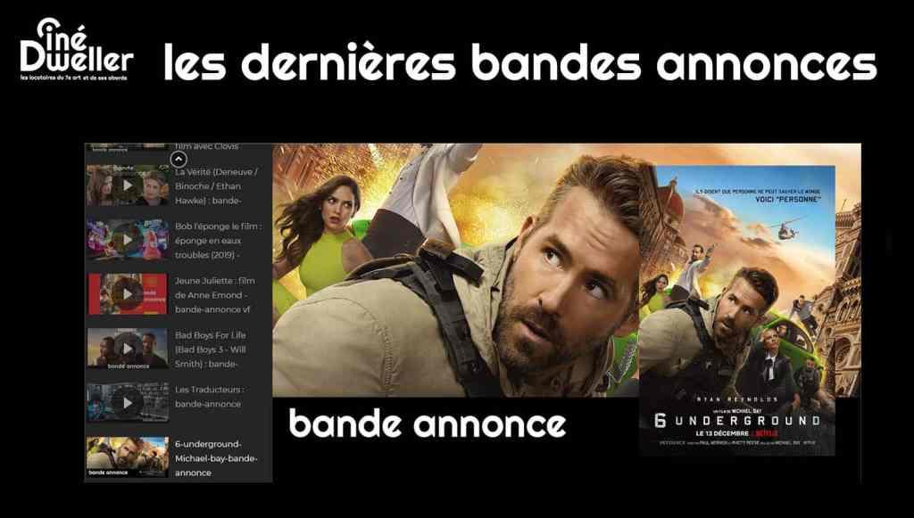 Tempête de bandes annonces sur le web : la page Youtube