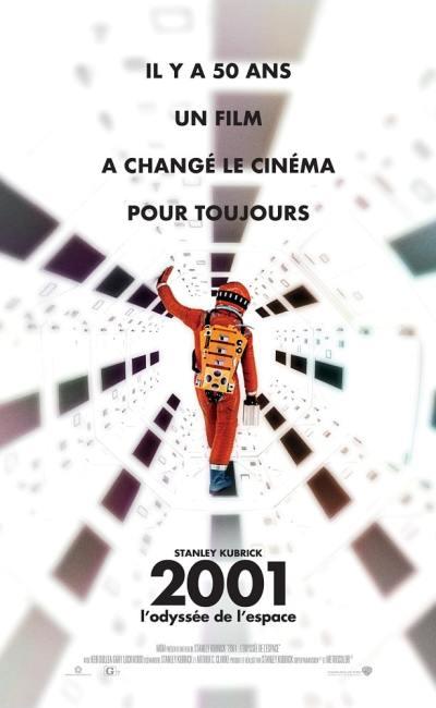 Affiche française (réédition) de 2001 : L'odyssée de l'espace