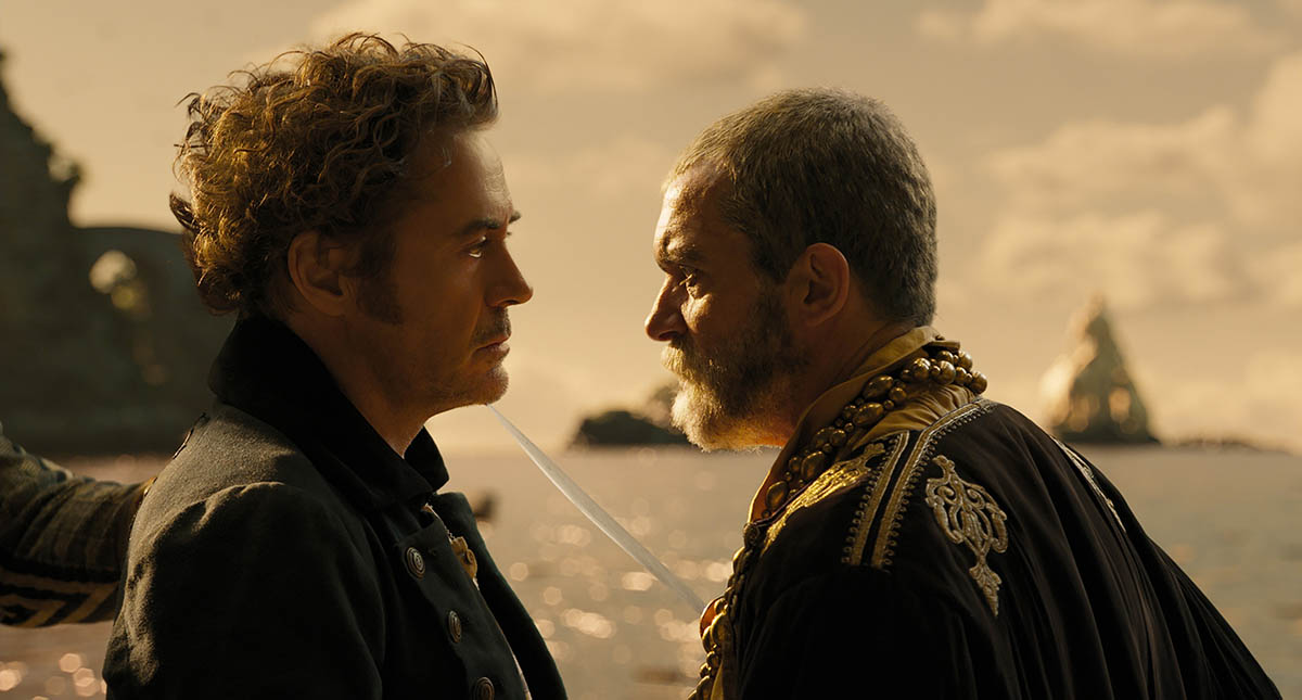 Antonio Banderas et Robert Downey Jr. du Voyage du Dr Dolittle