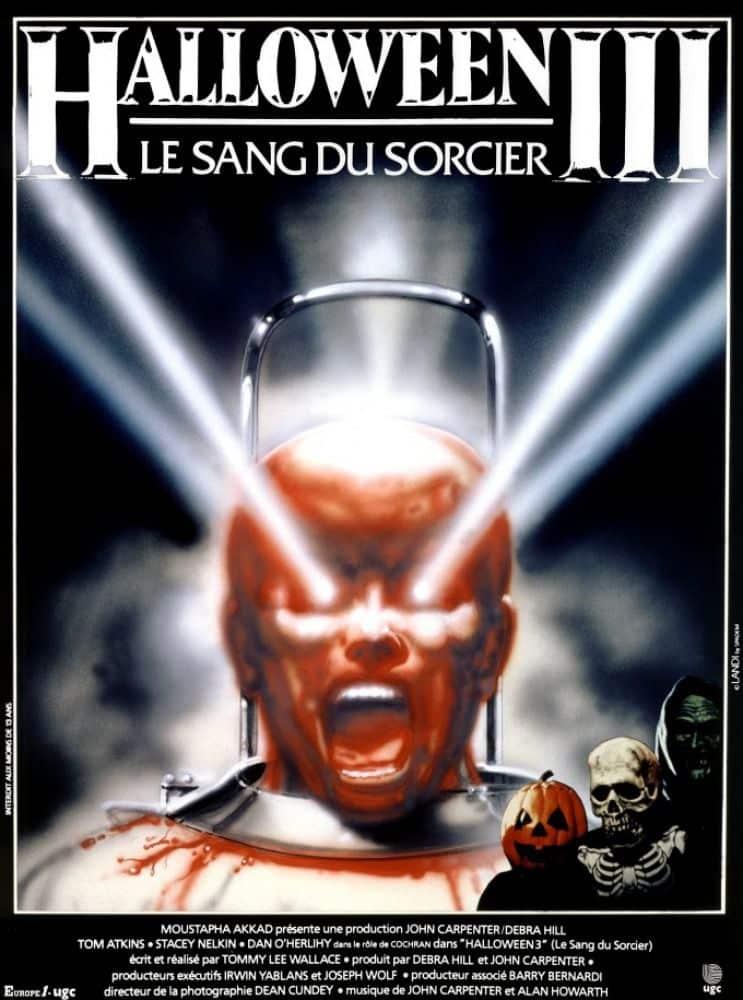Affiche française d'Halloween III, le sang du sorcier de Tommy Lee Wallace