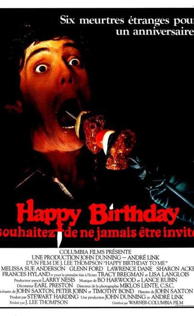 Happy Birthday, l'affiche du slasher de 1981
