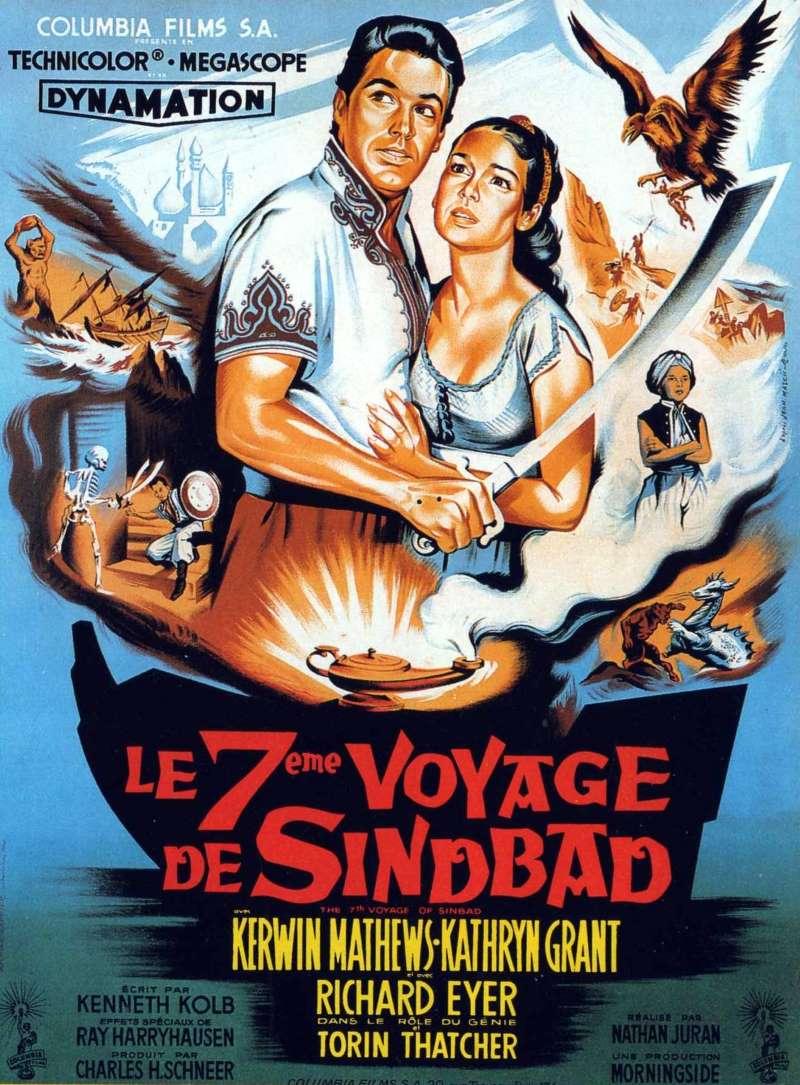 Le septième voyage de Sinbad, l'affiche