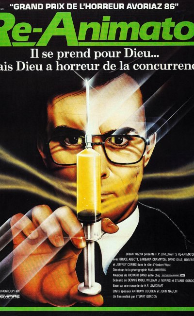 Re-animator : l'affiche du film de Stuart Gordon