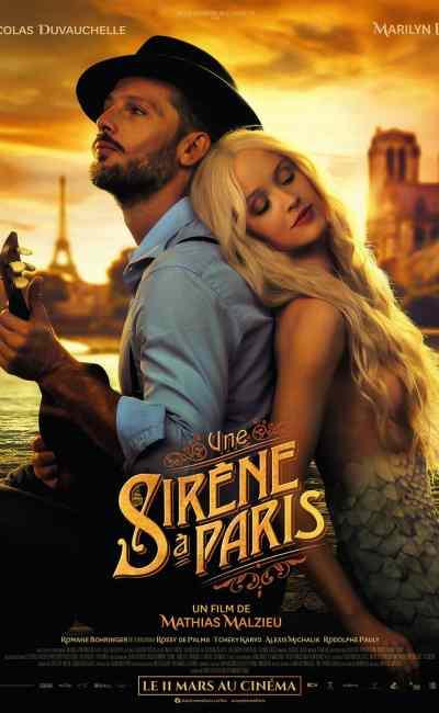 Une sirène à Paris, l'affiche du film