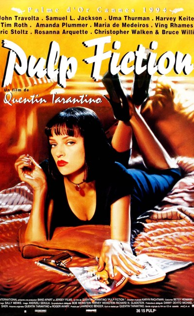 Pulp Fiction, affiche de la Palme d'or Cannes 1994 de Quentin Tarantino
