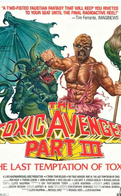 Toxic Avenger 3, l'affiche US