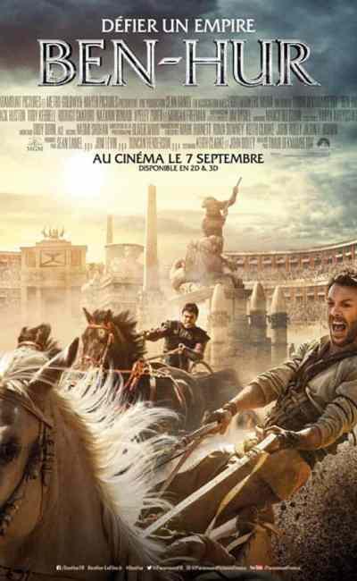Ben-Hur, affiche cinéma du remake de 2016