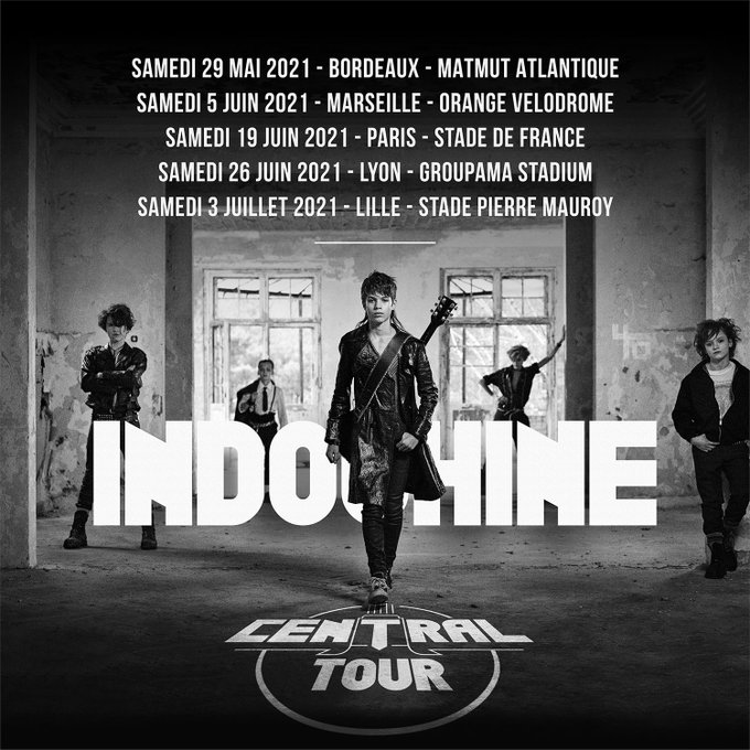Indochine Central Tour : les dates du concert