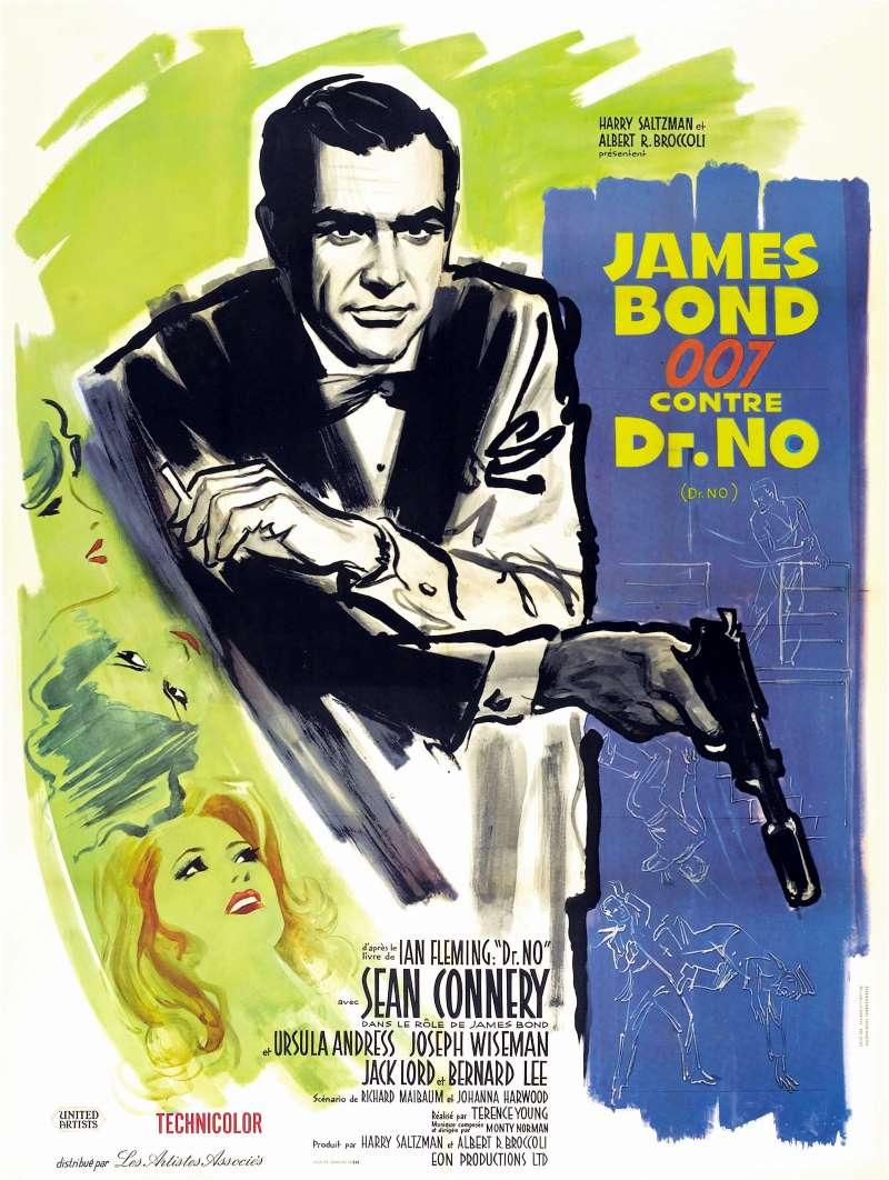 James Bond 007 contre Dr No, l'affiche
