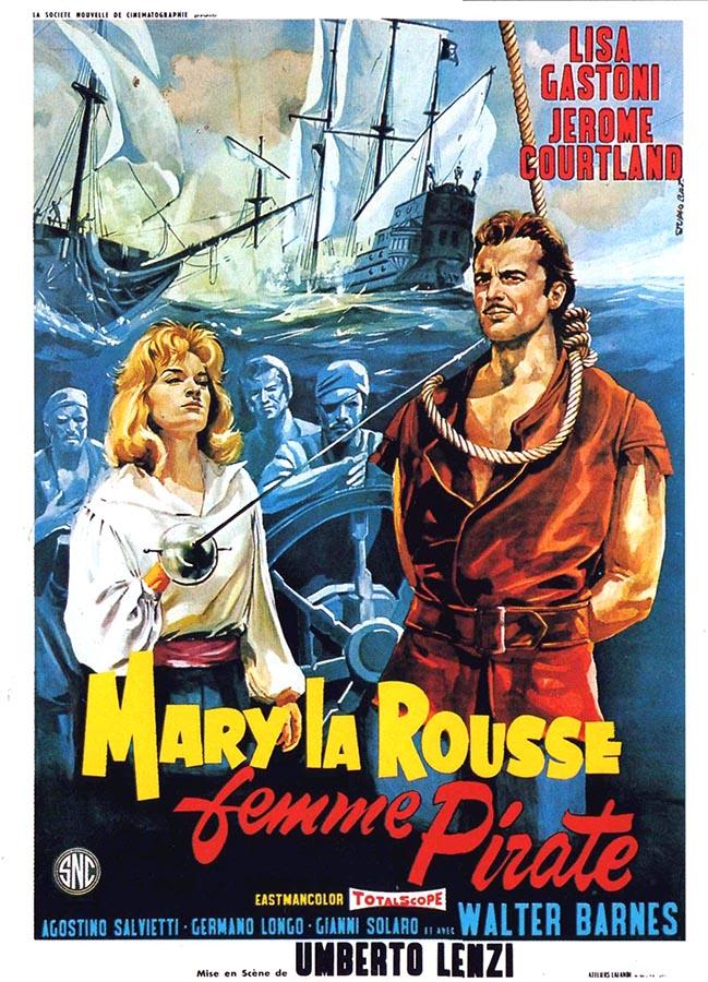 Mary la Rousse, femme pirate, premier film de Umberto Lenzi