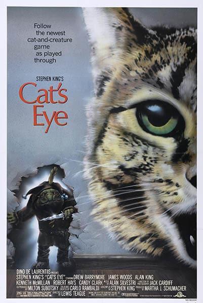 Cat's Eye de Lewis Teague, affiche cinéma américaine