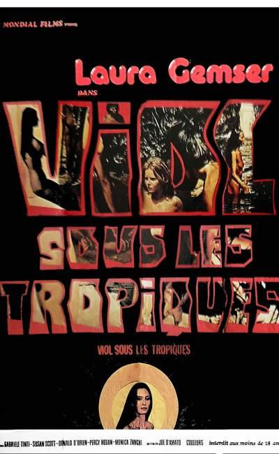 Viol sous les tropiques affiche cinéma - Emanuelle et les derniers cannibales, poster 1978