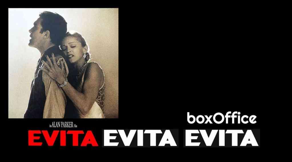 Box-office de Evita, avec Madonna