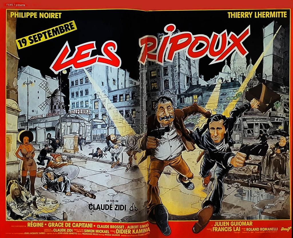 Affiche 4X3 de Les Ripoux, rare, archives de Frédéric Mignard