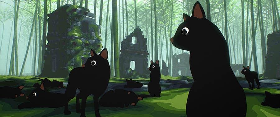 Le monde des chats dans Ailleurs de Gints Zilbalodis