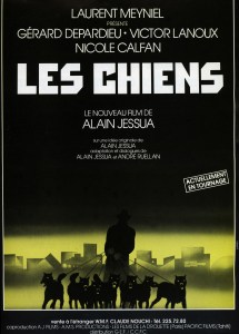 Landi, Les Chiens, publicité tournage du film d'Alain Jessua