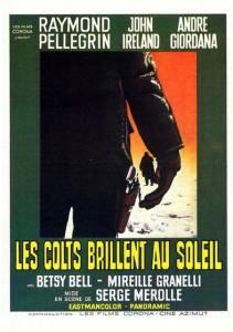 Les colts brillent au soeil, affiche cinéma france (alternative)