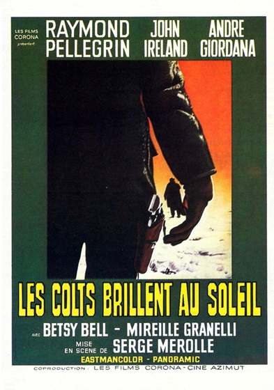 Les colts brillent au soeil, affiche cinéma france (alternative)