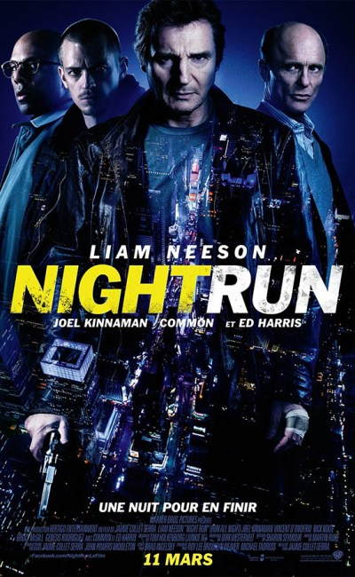 Affiche de Night Run, avec Liam Neeson