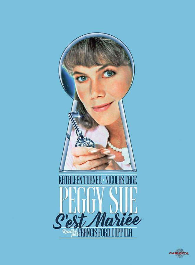 Jaquette DVD et blu-ray de Kathleen Turner dans Peggy Sue s'est mariée, Carlotta