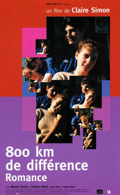 800km de différence Romance, affiche du film de Claire Simon