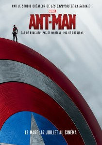 Affiche teaser du bouclier de Captain America de Ant-Man
