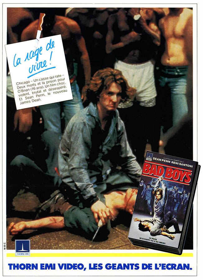 Publicité VHS Bad Boys, les mauvais garçons, Thorn Emi