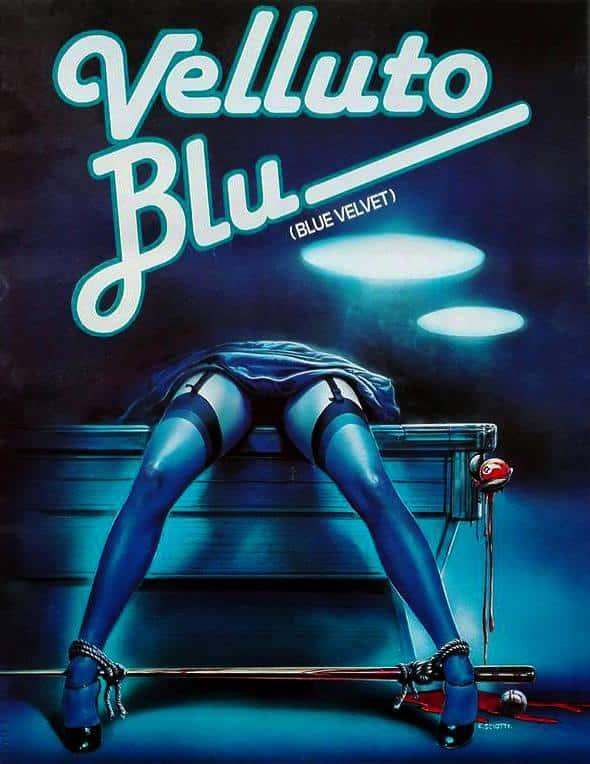 Affiche italienne de Blue Velvet de David Lynch par Enzo Sciotti