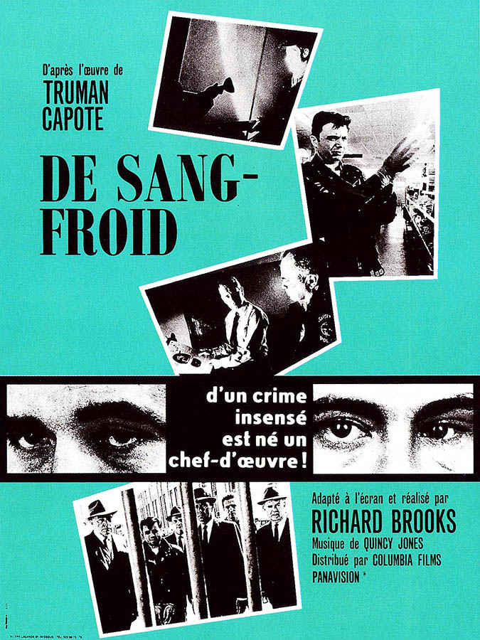 Affiche originale 1968 de De sang-froid (In cold-blood), Richard Brooks