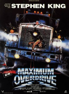 Maximum Overdrive de Stephen King, affiche d'Enzo Sciotti