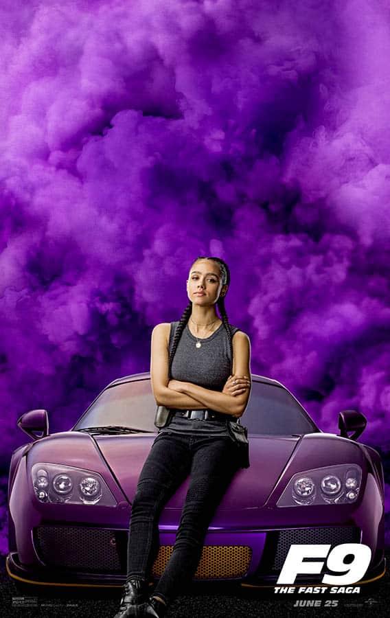 Affiche préventive Nathalie Emmanuel Fast and Furious 9