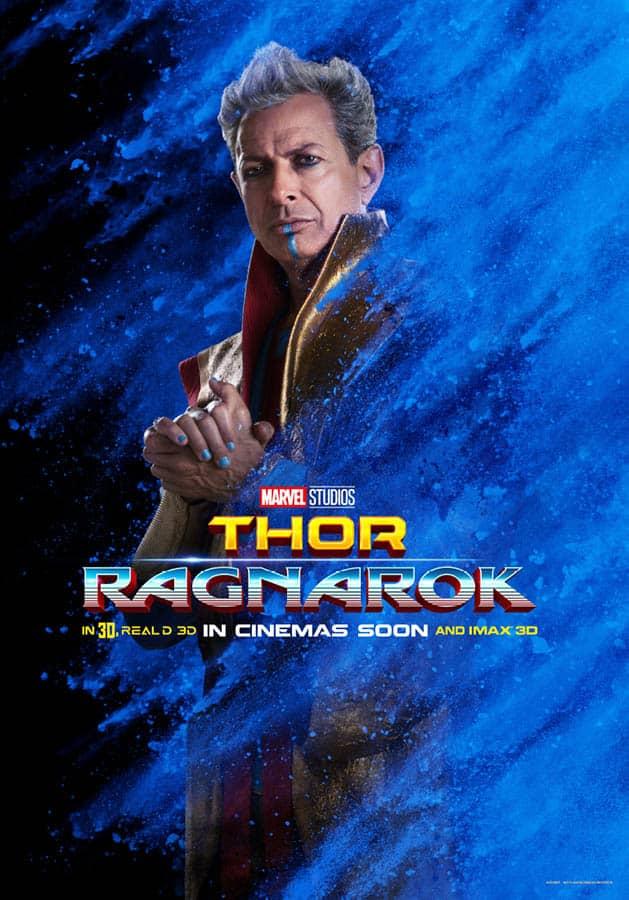 Thor : Ragnarok, affiche personnage de Jeff Goldblum