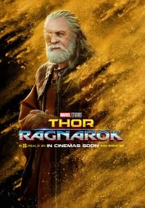 Thor : Ragnarok, affiche personnage de Odin