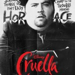 Cruella, affiche personnage Paul Walter Hauser