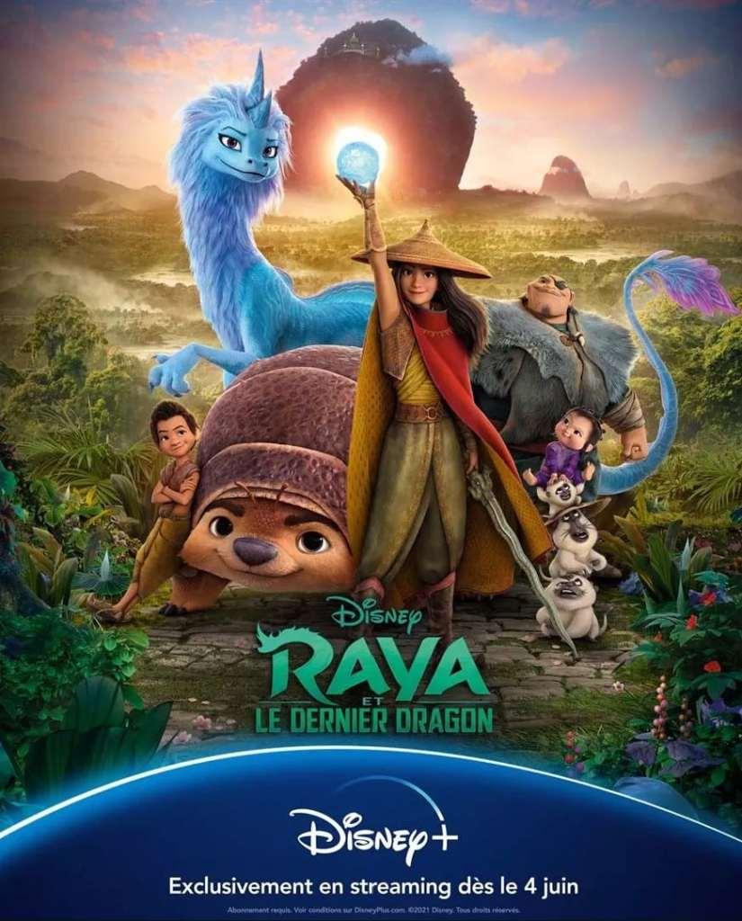 Raya et le dernier dragon, affiche Disney+